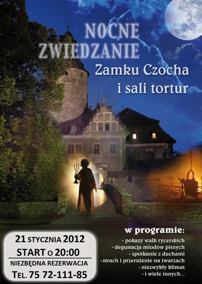 Nocne zwiedzanie Zamku – 21 stycznia 2012r.