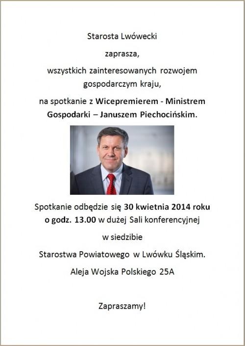 Spotkanie z Piechocińskim w powiecie lwóweckim