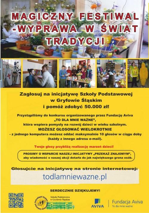 Zagłosuj na inicjatywę Szkoły Podstawowej w Gryfowie Śląskim