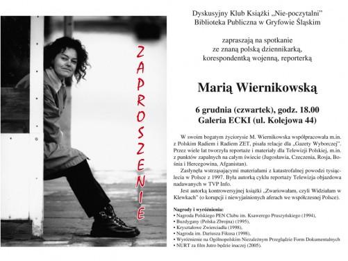 Spotkanie z Marią Wiernikowską