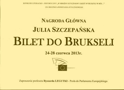 Julia Szczepańska laureatką konkursu literackiego – 16.05.2013 r.