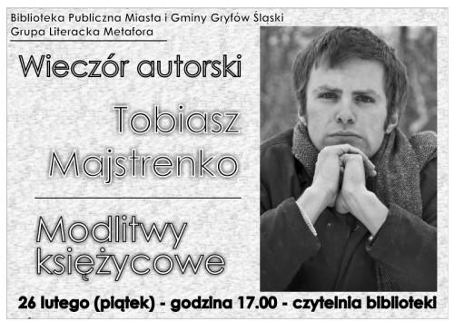 Wieczór autorski Tobiasza Majstrenki