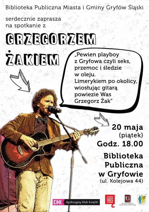 Spotkanie z Grzegorzem Żakiem