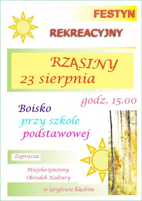 Festyn rekreacyjny w Rząsinach