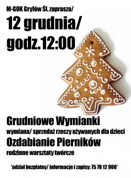 KIERMASZ – grudniowe wymianki w MGOK w Gryfowie Śląskim