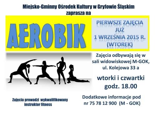 Aerobik w Miejsko – Gminnym Ośrodku Kultury w Gryfowie Śląskim