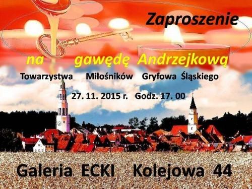 Zaproszenie na gawędę Andrzejkową