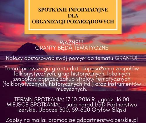 Spotkanie ws. grantów dla organizacji pozarządowych