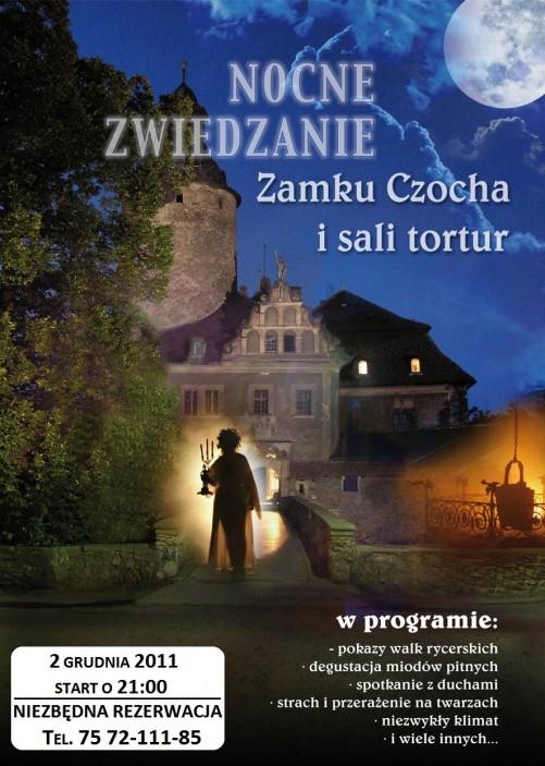 Nocne zwiedzanie Zamku –  02 grudnia br.