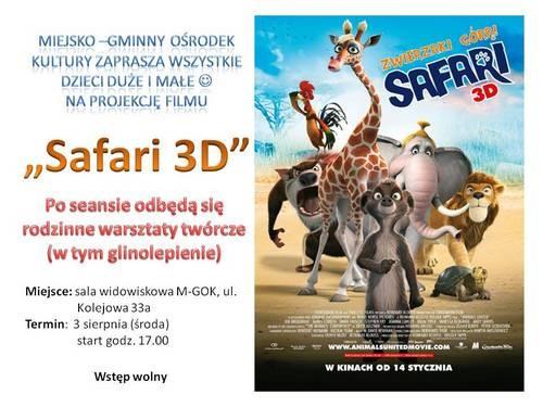 Seans Zwierzaki Górą Safari 3D