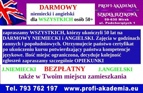 Darmowe kursy językowe dla osób 50+