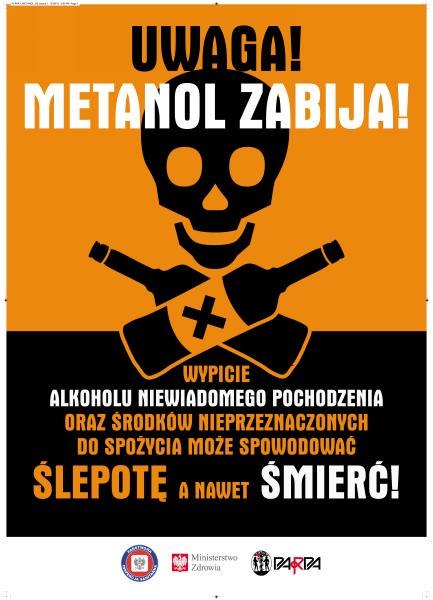 Uwaga! Metanol zabija!