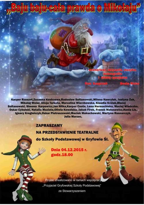 Mikołajkowe przedstawienie teatralne