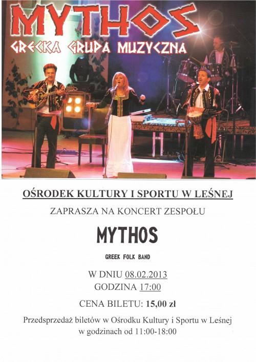 Koncert  zespołu MYTHOS