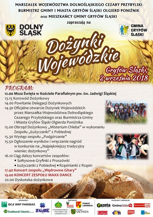 Zaproszenie na Dożynki Wojewódzkie