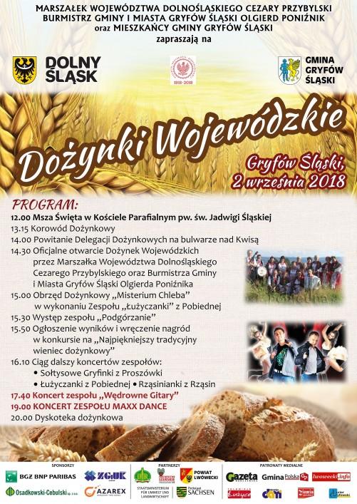 Dożynki Wojewódzkie w Gryfowie Śląskim