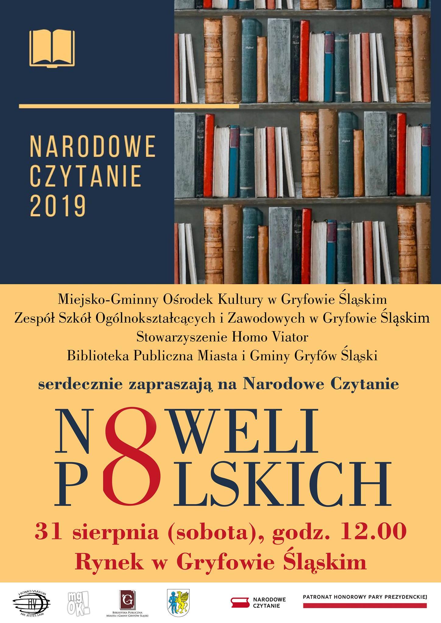 Narodowe czytanie 2019 w Gryfowie Śląskim