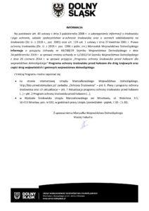 Informacja o przyjęciu Programu ochrony środowiska przed hałasem