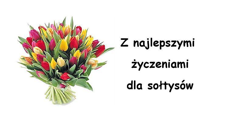 Serdeczne życzenia dla Sołtysów