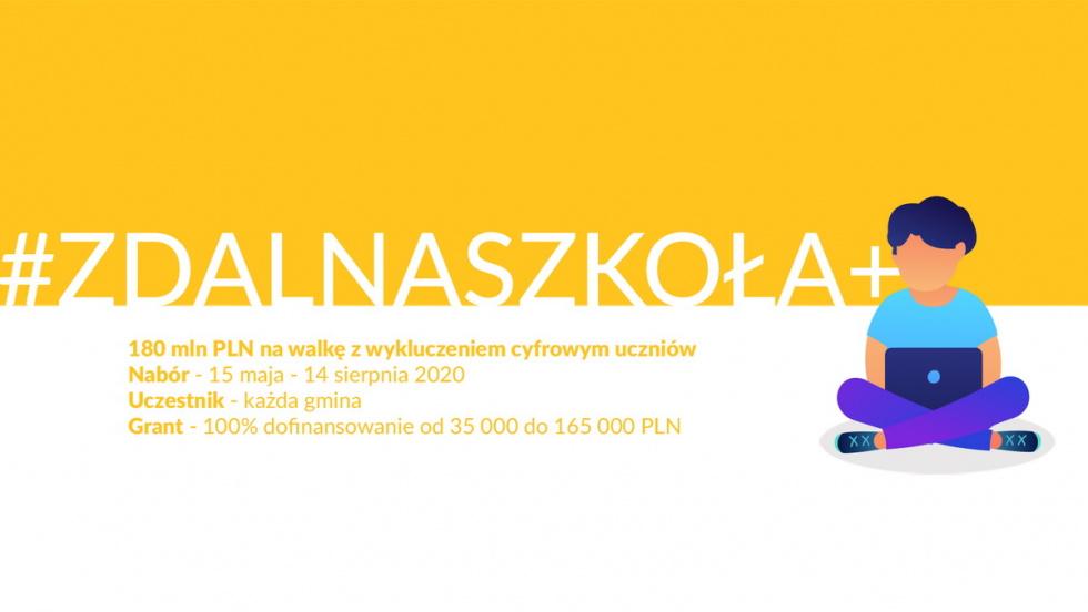 """Projekt """"Zdalna szkoła +""""  w Gminie Gryfów Śląski"""