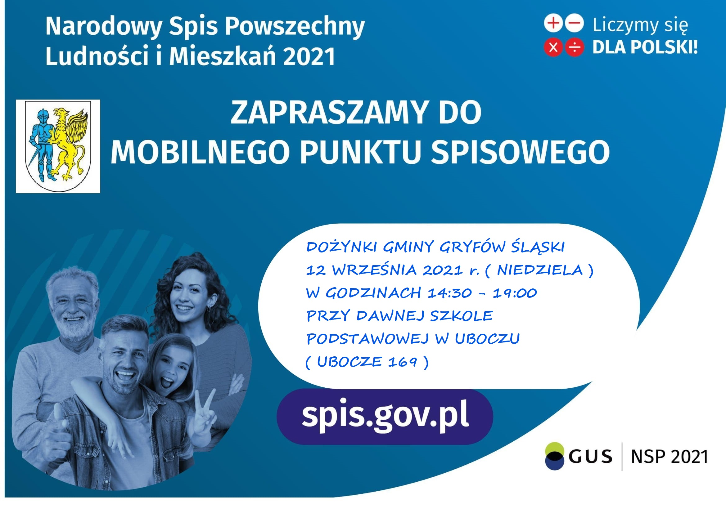 Weź udział w Narodowym Spisie Powszechnym w trakcie Dożynek Gminy Gryfów Śląski.