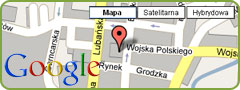 Mapa Gryfowa Śląskiego w Google Maps