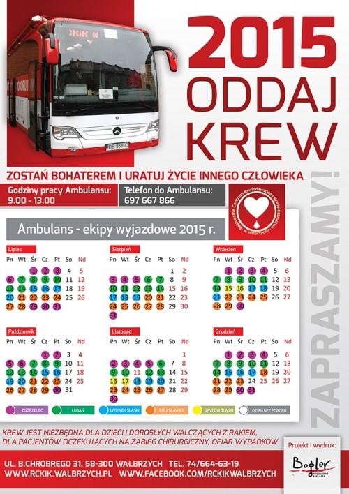 Kalendarz poboru krwi