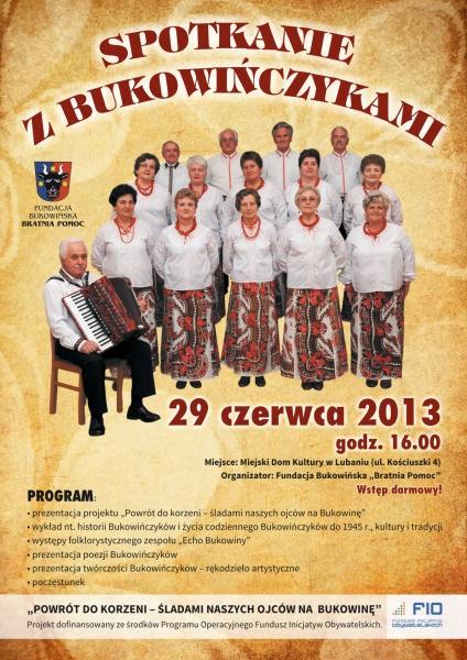 Spotkanie z Bukowińczykami – 29.06.2013 / Lubań