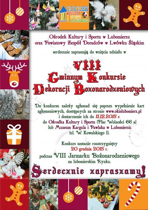VIII Gminny Konkurs Dekoracji Bożonarodzeniowych