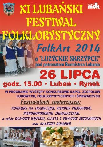 Zaproszenie na festiwal FolkArt 2014
