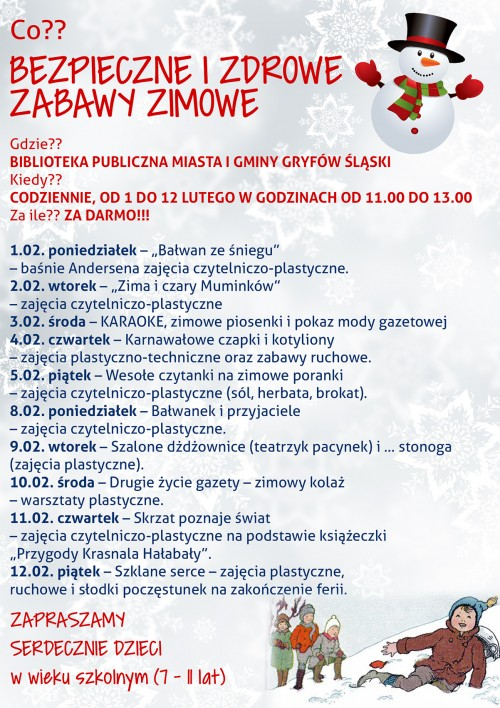 Ferie z Biblioteką Publiczną w Gryfowie Śląskim