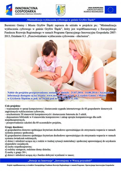 Minimalizacja wykluczenia cyfrowego w gminie Gryfów Śląski