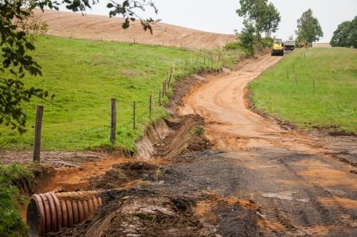 Przebudowa drogi dojazdowej do gruntów rolnych w Rząsinach