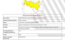 Komunikat meteorologiczny marznące opady