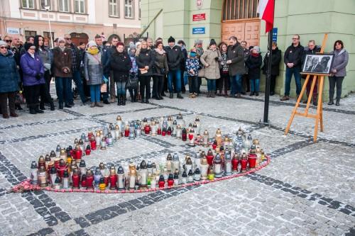 Mieszkańcy Gryfowa Śląskiego uczcili pamięć Pawła Adamowicza
