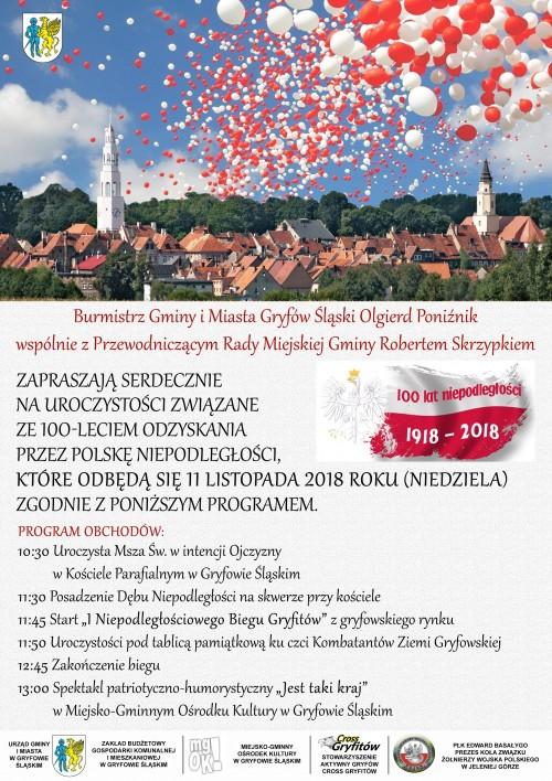 Obchody Narodowego Święta Niepodległości w Gryfowie Śląskim