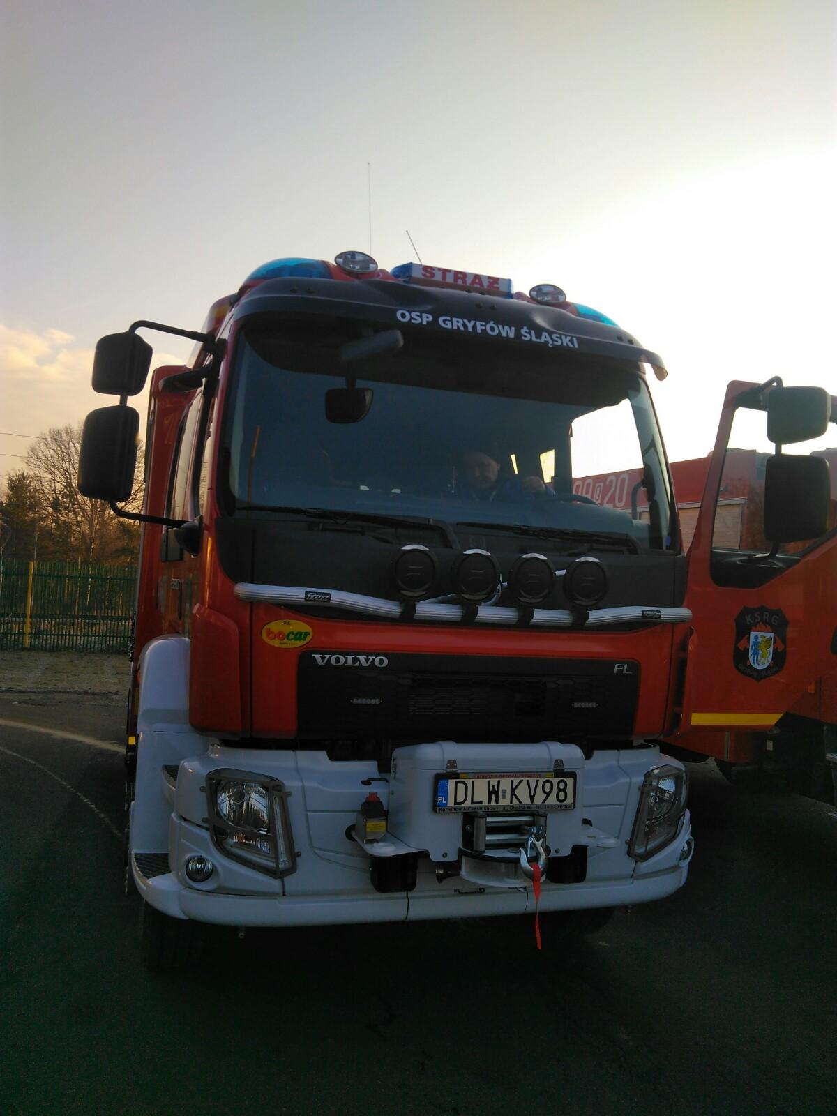 Upragniony samochód dla gryfowskich strażaków