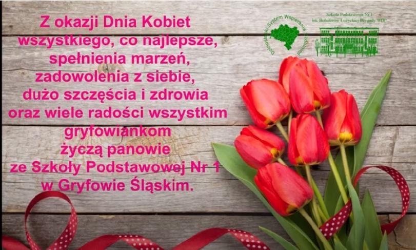 Życzenia z okazji Dnia Kobiet od SP1
