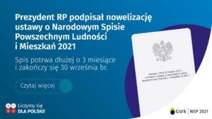 Prezydent RP podpisał nowelizację ustawy o Narodowym Spisie Powszechnym Ludności i Mieszkań 2021