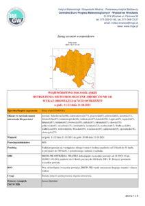Ostrzeżenie meteorologiczne IMGW-PIB