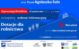20 października 2021 r. na platformie Teams webinar dla mieszkańców wsi.